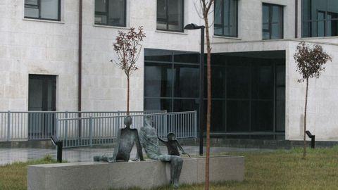 Una entrada de la residencia Domusvi de Monforte, en una imagen de archivo