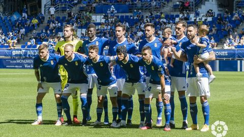 Alineación del Real Oviedo ante el Cartagena
