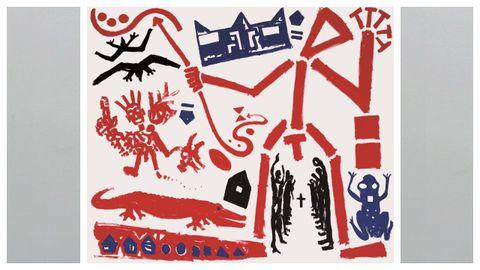 Detalle del «Tríptico para Basquiat» de A. R. Penck.