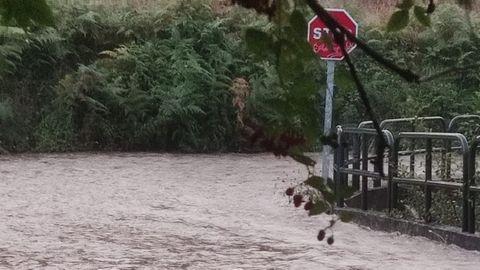 Crecida del río en Lubre, Bergondo