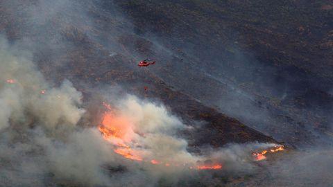 Vista del incendio de Sierra Bermeja