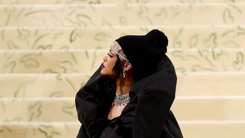 Rihanna en la gale MET