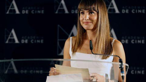 La actriz Verónica Echegui realiza la lectura de las tres películas preseleccionadas para representar a nuestro país