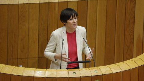 Ana Pontón en el Parlamento, en una imagen de archivo