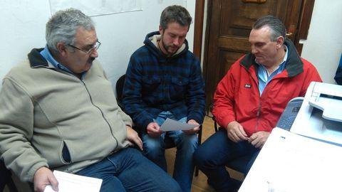 Jesús Vázquez, Rubén Arroxo y Fernando Rois, en una reunión en el 2017