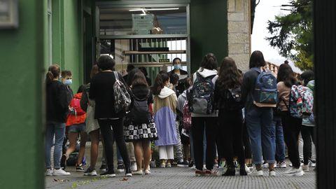 Primer día de clase el pasado curso 2020/21 en el IES Canido de Ferrol