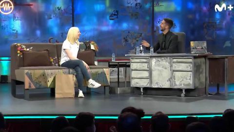 Susana Rodríguez y David Broncano al comienzo de la entrevista