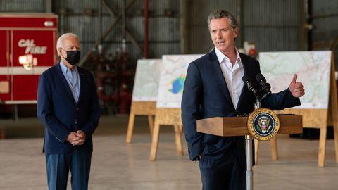Biden viajó el lunes a California para apoyar al gobernador demócrata Gavin Newsom.