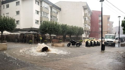Las inundaciones en Cambre