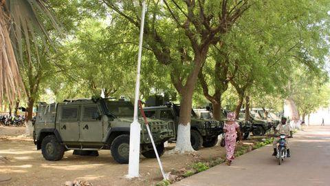 Blindados Lince de la misión militar española en Mali