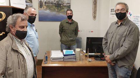Luis Abel y Fernando Rois debatieron con Rubén Arroxo y Alexandre Penas el formato de la reunión, que finalmente no tuvo lugar