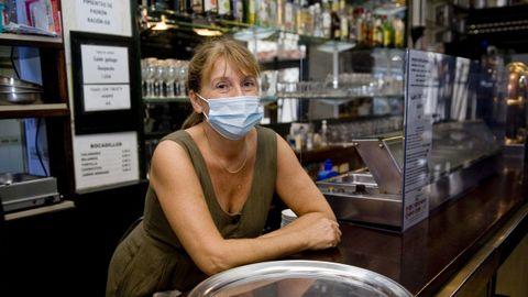 Diana Bar, dueña del local La Bombilla.