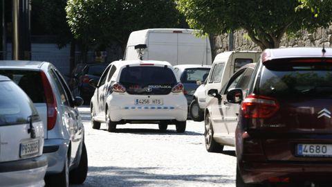 Multamóvil por las calles de Pontevedra, en imagen de archivo