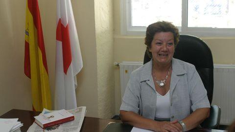 Ángela González fue presidenta de la agrupación comarcal de la Cruz Roja