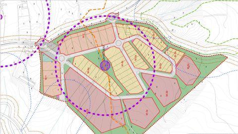 Plano del nuevo polígono de Ribeira