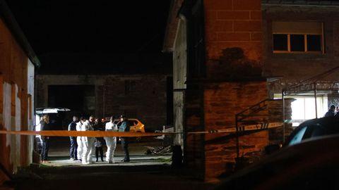 Escenario del crimen de violencia machista ocurrido en A Pastoriza en enero del 2020