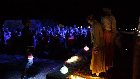 Representación de A Noite dos Naufraxios en Camariñas.