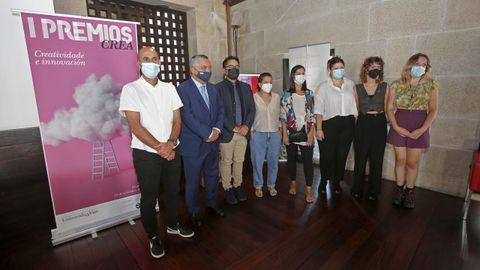 Acto de entrega de los premios Crea-Creatividade de la Universidad de Vigo en el campus de Pontevedra