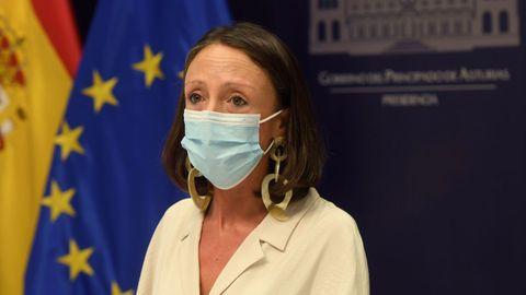 La consejera de Derechos Sociales y Bienestar y portavoz del Ejecutivo asturiano, Melania Álvarez