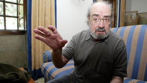Alfonso Sastre, en la Semana de Filosofía de Pontevedra en el 2003.