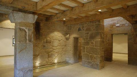 Interior del pazo de Quintáns, en Noalla, Sanxenxo