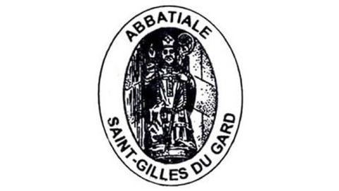 Sello de la abadía de Saint-Gilles du Gard, en Francia.