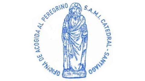 El último sello, de la Oficina de Acogida al Peregrino.