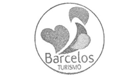 Sello de la Oficina de Turismo de Barcelos con el gallo simbólico de la localidad, que hace referencia al milagro del Gallo de Barcelos.