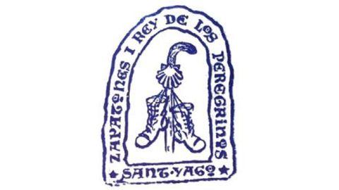 Sello personal de Zapatones, el famoso peregrino del Obradoiro, ya fallecido.
