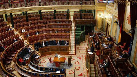 Imagen del Congreso de los Diputados el 26 de marzo del año pasado, durante el debate de la solicitud de prórroga del estado de alarma