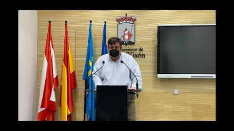 Pelayo Barcia, concejal de Foro Asturias en Gijón