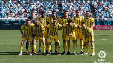 Once inicial del Oviedo ante el UD Ibiza