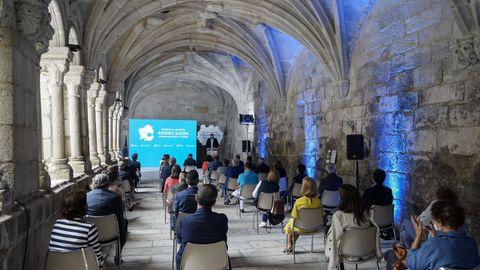 Acto en Santo Estevo en favor de la declaración de Ribeira Sacra e Serras de Oribio e Courel como reserva de la biosfera