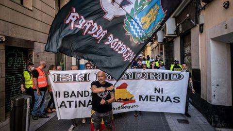 Imagen de la manifestación neonazi este sábado en Chueca.