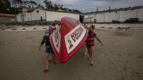Imagen de archivo del equipo de Cabo da Cruz saliendo a entrenar antes de participar en la Bandera de La Concha