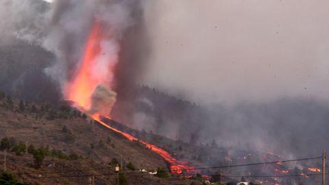 Imagen del volcán Cumbre Vieja en La Palma