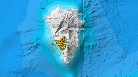 Terremotos detectados por el IGN en La Palma