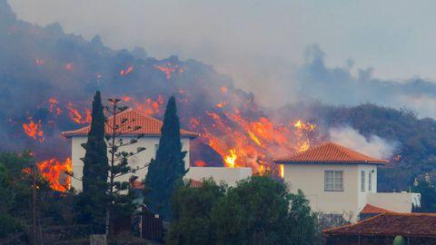 Incendios provocados por la erupción del volcán en La Palma