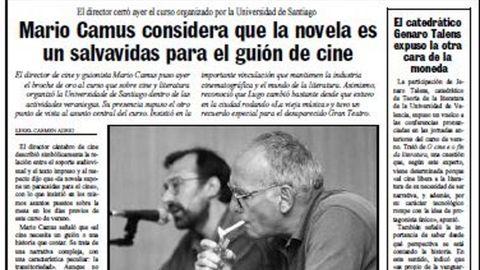 Página de La Voz publicada el 25 de julio de 1996