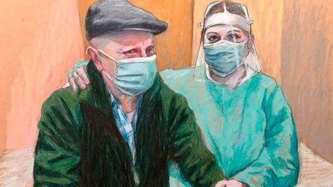 Imagen de la exposición «Retratando en plata», sobre el alzhéimer