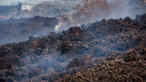 La lava podría llegar hasta la costa a las ocho de la tarde
