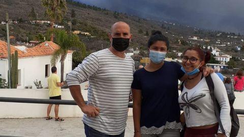 Pablo Jiménez, junto a su familia en La Palma