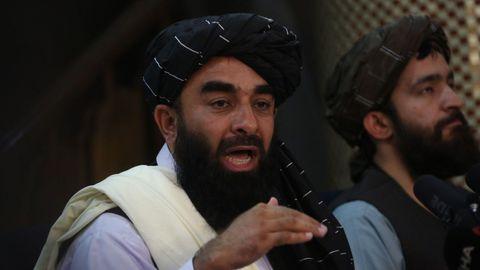 El portavoz de los talibanes, Zabihullah Mujahid.