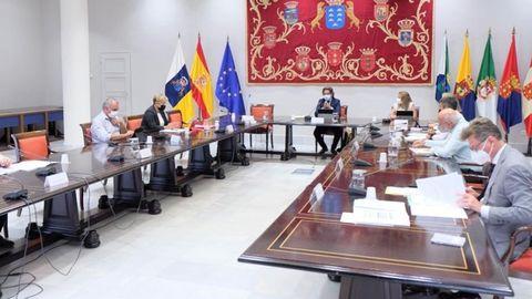 Reunión de la Junta de Portavoces del Parlamento de Canarias