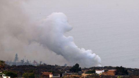Segundo día de erupción del volcán de La Palma