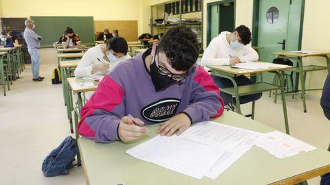 Examen extraordinario de selectividad en Viveiro el pasado mes de julio