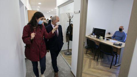Visita del presidente de la Diputación de Lugo a la reforma integral del edificio