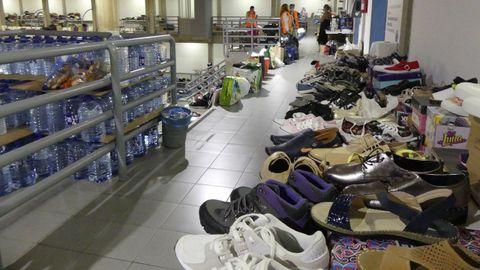 Material donado para las personas evacuadas en La Palma