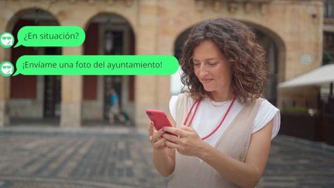 Captura de una conversacion con el chatbot