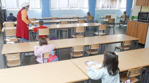 Imagen de archivo del comedor escolar del colegio Ponzos